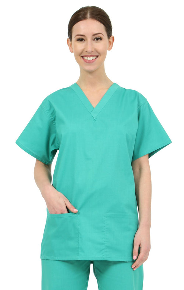 NST - Unisex Reversible Scrub Top The Staff Uniform Company Jade XS