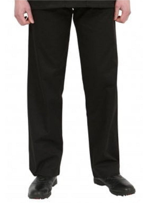 "NSTR - Unisex Smart Scrub Trouser (Long 33"" Leg) Scrubs Behrens Black XS"