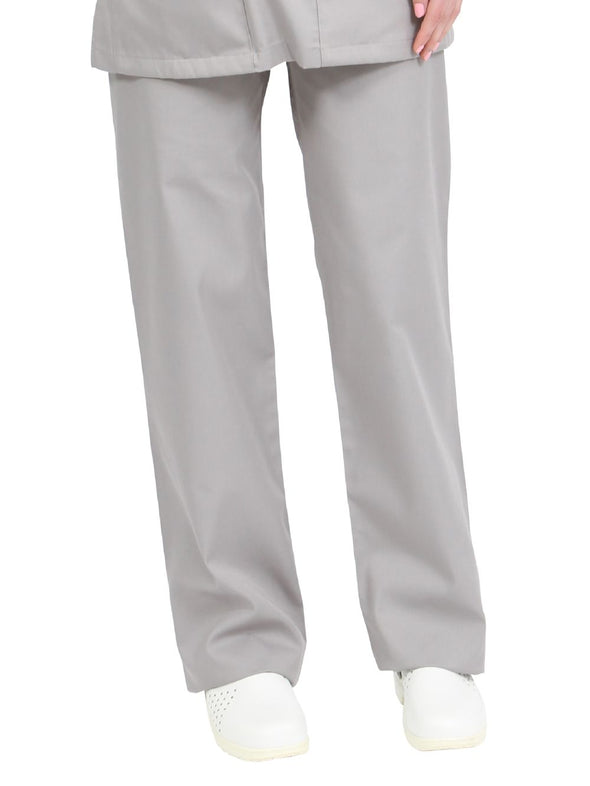 "NSTR - Unisex Smart Scrub Trouser (Long 33"" Leg) Scrubs Behrens Grey XS"