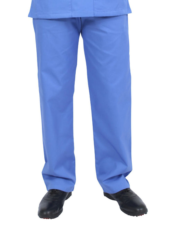"NSTR - Unisex Smart Scrub Trouser (Long 33"" Leg) Scrubs Behrens Hospital Blue XS"
