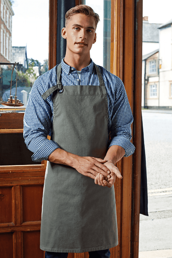 PR130 - Heavy Cotton Canvas Bib Apron Aprons Premier