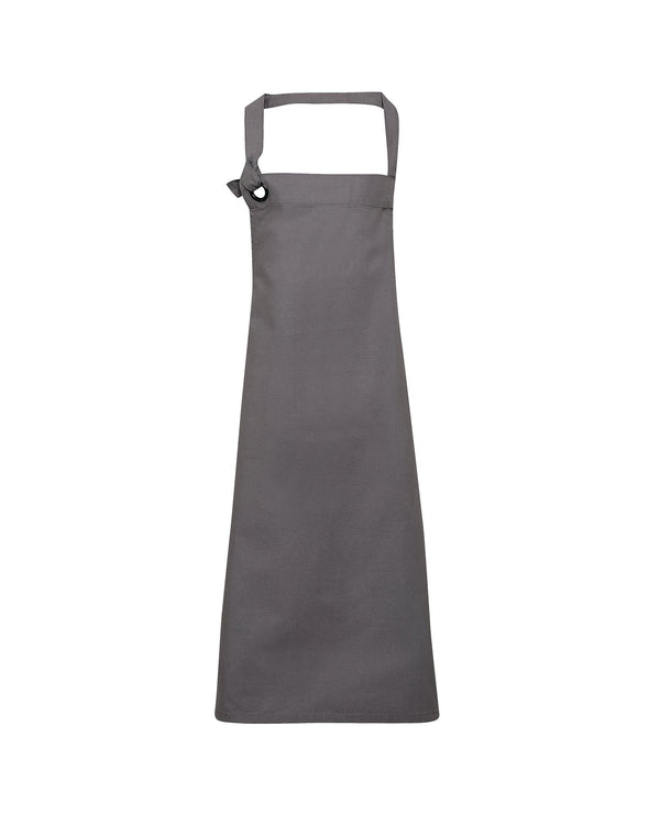 PR130 - Heavy Cotton Canvas Bib Apron Aprons Premier Dark grey