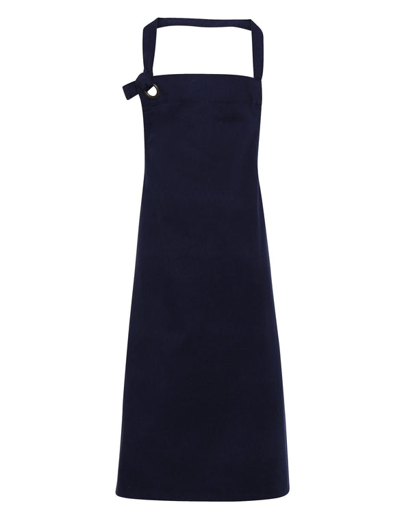 PR130 - Heavy Cotton Canvas Bib Apron Aprons Premier Navy