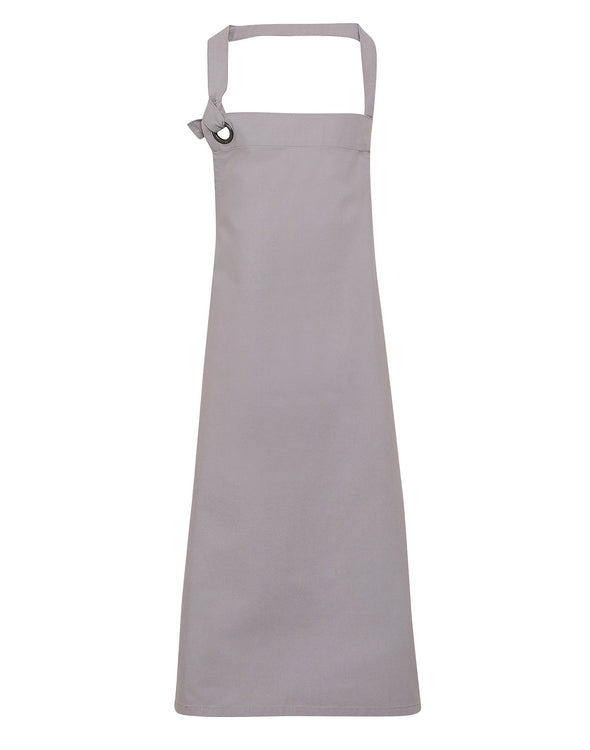 PR130 - Heavy Cotton Canvas Bib Apron Aprons Premier Silver