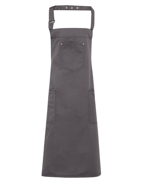 PR132 - Chino Cotton Bib Apron Aprons Premier Steel