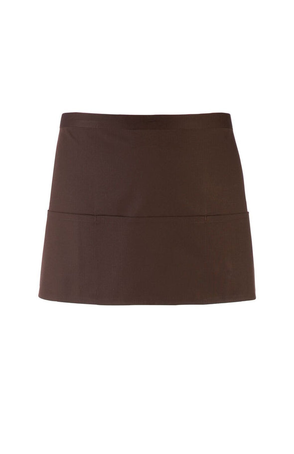 PR155 - Colours 3 Pocket Apron Aprons Premier Brown