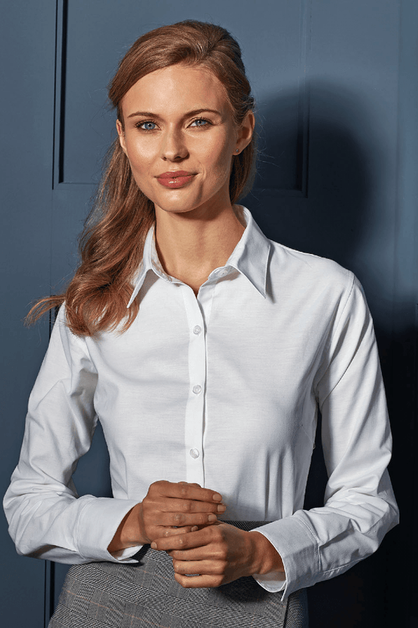 PR334 - Signature Oxford Shirt Womens Long Sleeve Shirts Premier