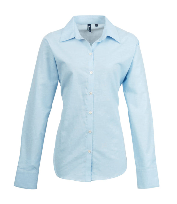 PR334 - Signature Oxford Shirt Womens Long Sleeve Shirts Premier Light Blue 8