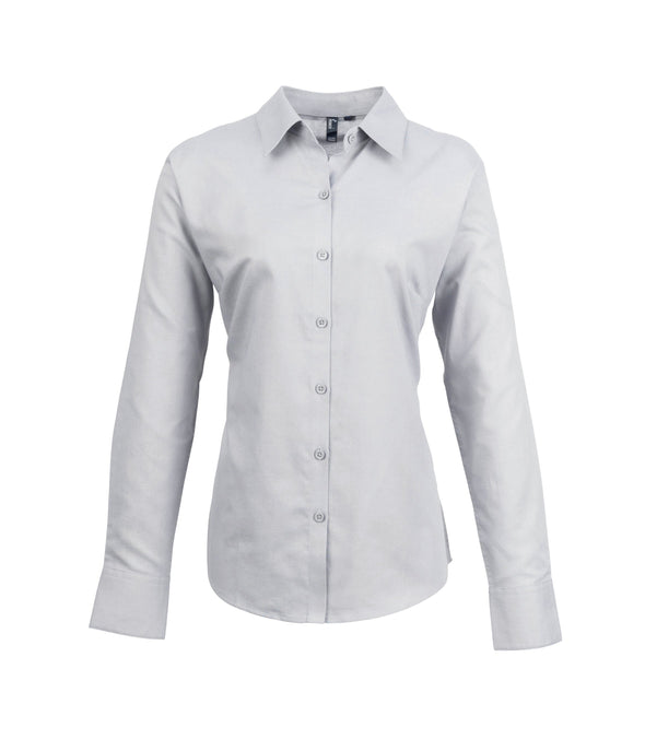 PR334 - Signature Oxford Shirt Womens Long Sleeve Shirts Premier Silver 8
