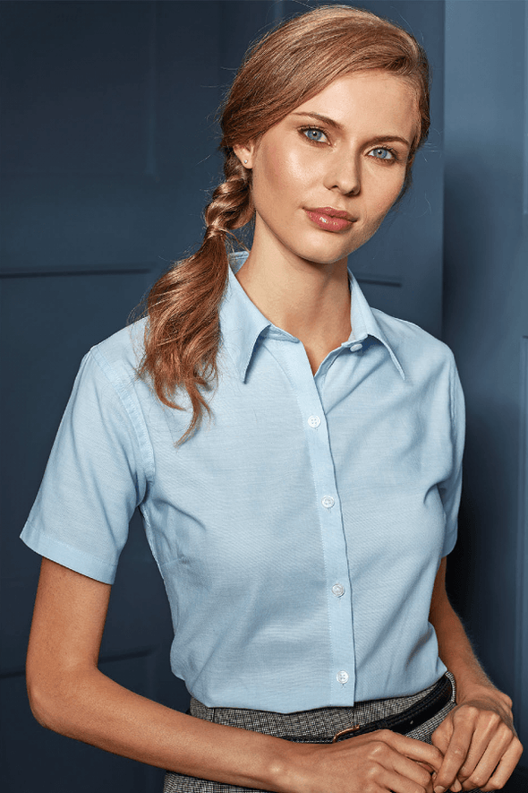 PR336 - Signature Oxford Shirt Womens Short Sleeve Shirts Premier