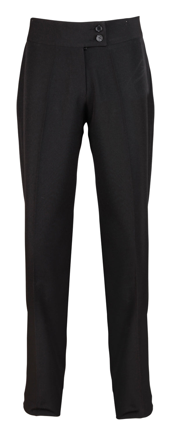 PR536 - Iris Straight Leg Trouser* Salon & Spa Trousers Premier Black 8