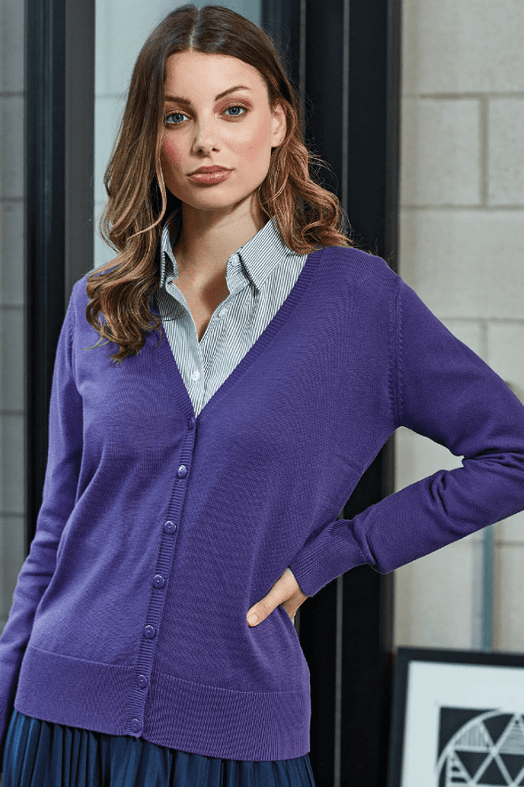 PR697 - Button Through Knitted Cardigan Womens Knitwear Premier