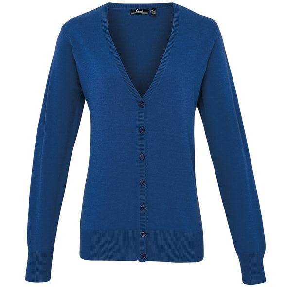 PR697 - Button Through Knitted Cardigan Womens Knitwear Premier Royal 8