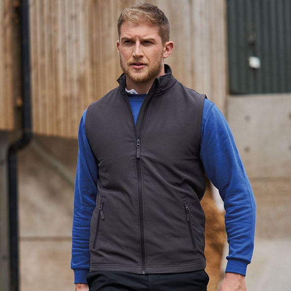 Pro 2-Layer Softshell Gilet Workwear ProRTX Charcoal S