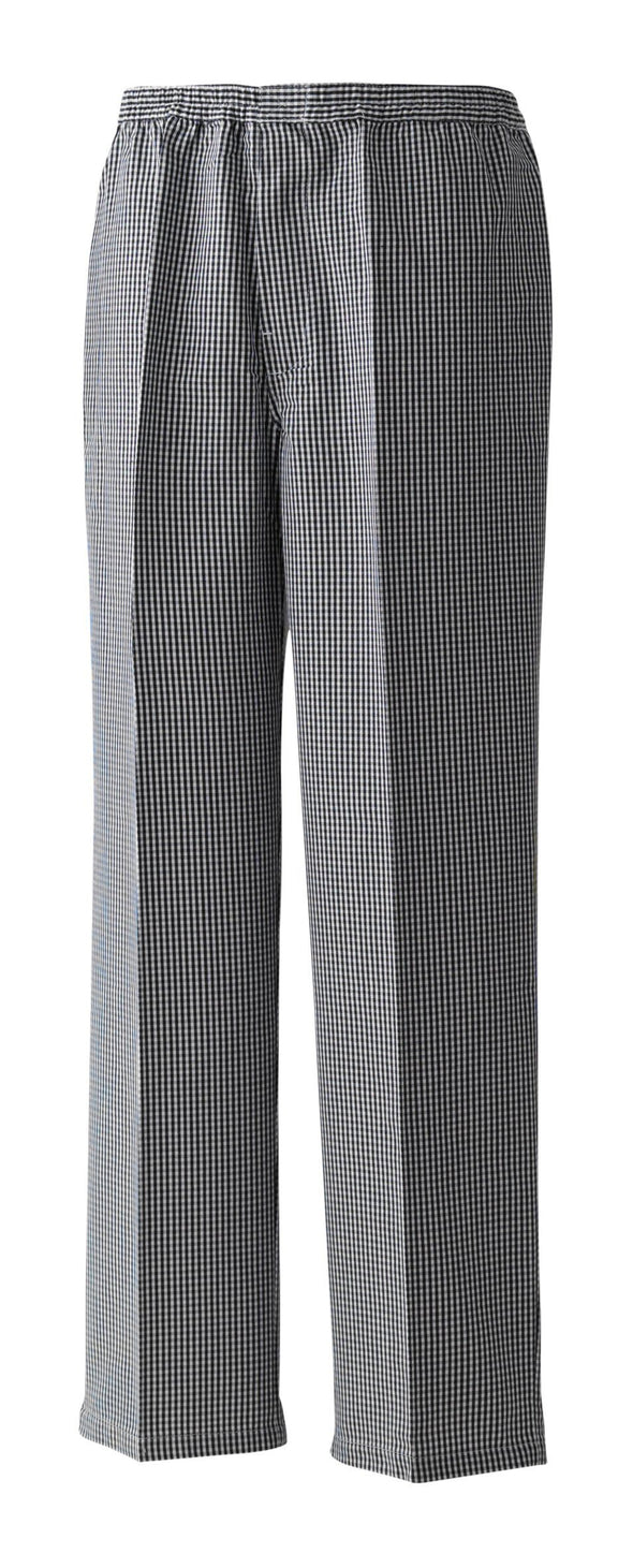 Pull-On Chefs Trouser Chefs Trousers Premier Black/White Check XS