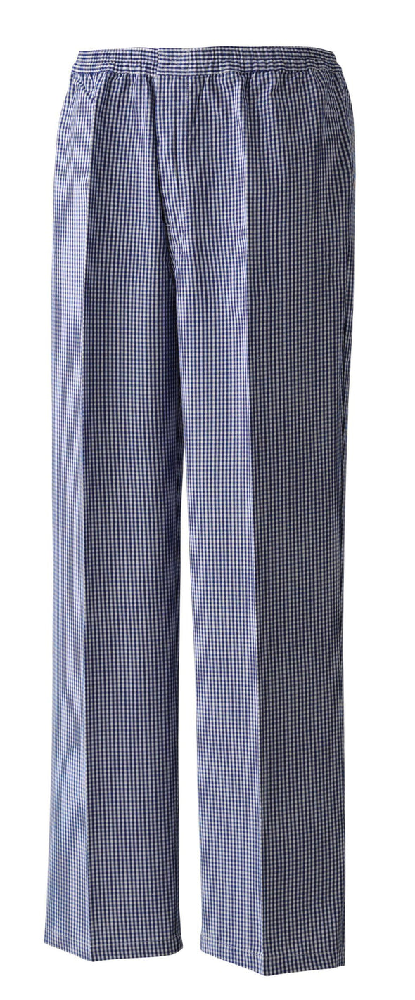 Pull-On Chefs Trouser Chefs Trousers Premier Navy/White Check XS