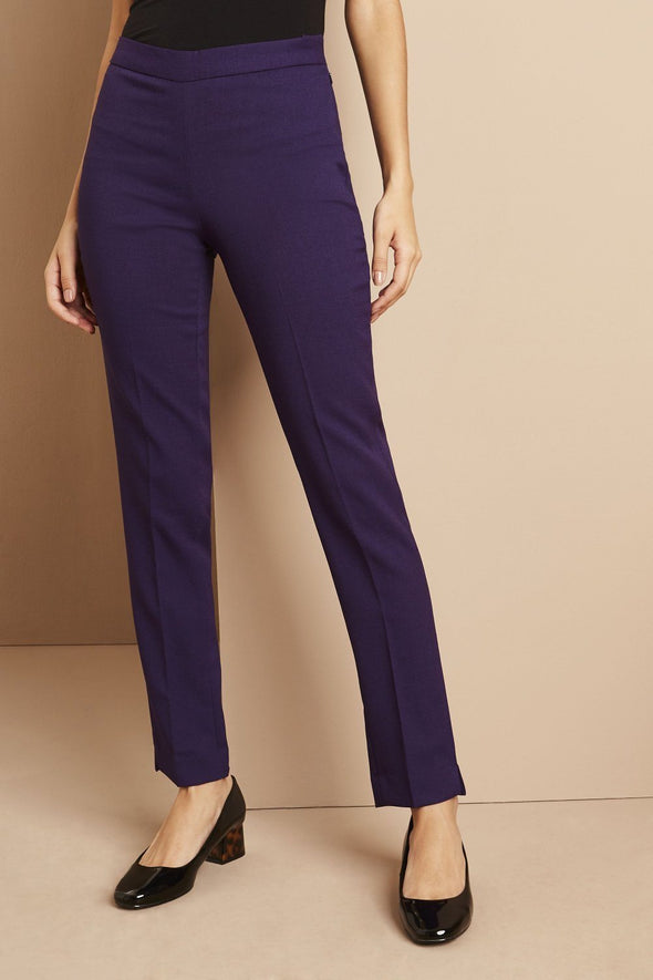 Slim Leg Beauty Trouser Salon & Spa Trousers Simon Jersey Violet 6 Regular