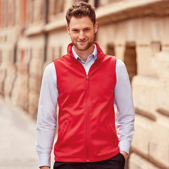 Smart Softshell Gilet Mens Bodywarmers Russell