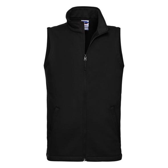 Smart Softshell Gilet Mens Bodywarmers Russell Black XS