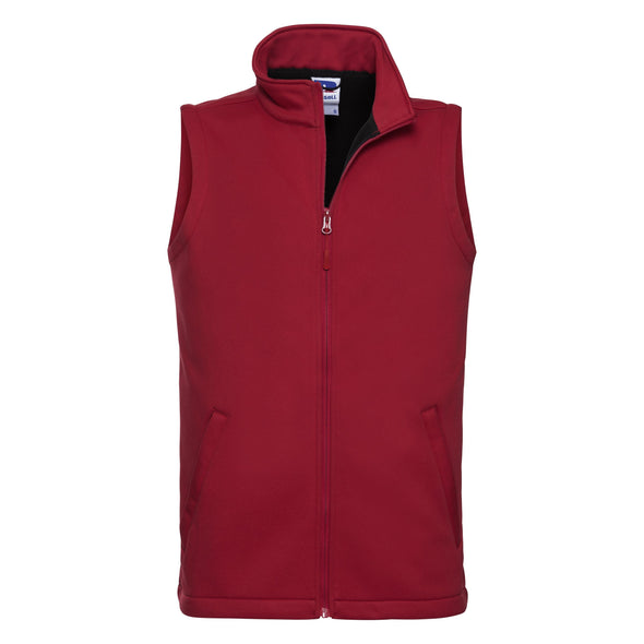 Smart Softshell Gilet Mens Bodywarmers Russell Classic Red XS
