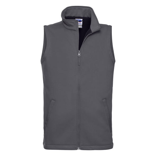 Smart Softshell Gilet Mens Bodywarmers Russell Convoy Grey XS