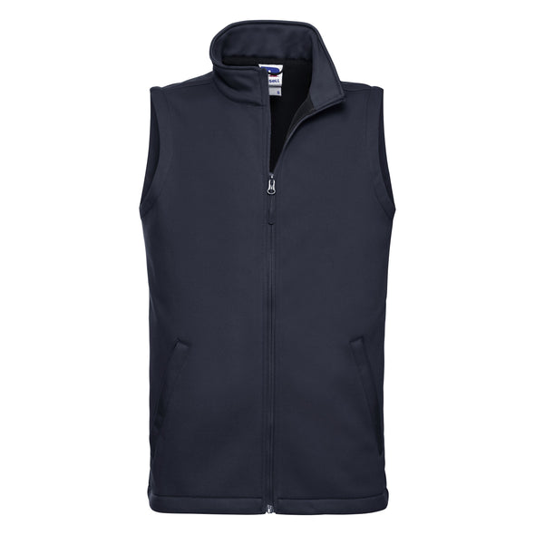 Smart Softshell Gilet Mens Bodywarmers Russell French Navy XS