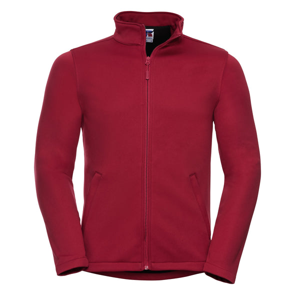 Smart Softshell Jacket Mens Softshell Jackets Russell Classic Red XS