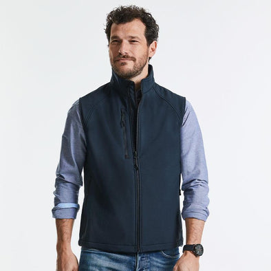 Softshell Gilet Mens Bodywarmers Russell