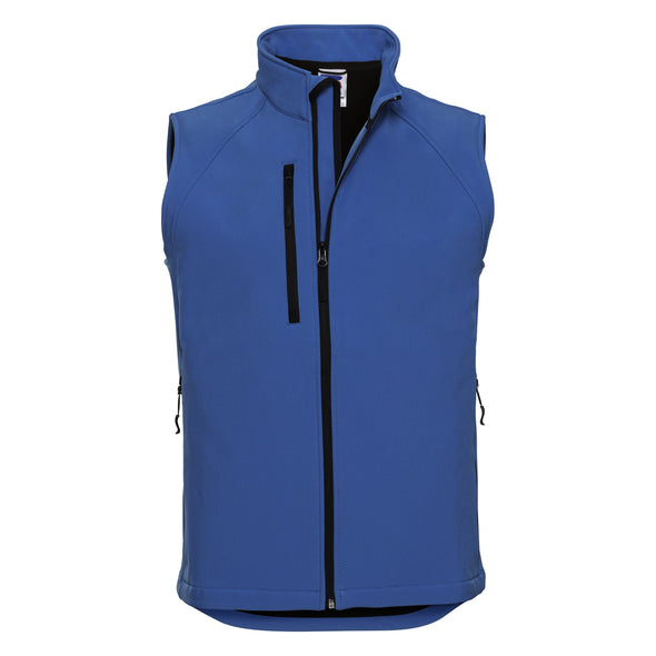 Softshell Gilet Mens Bodywarmers Russell Azure Blue XS