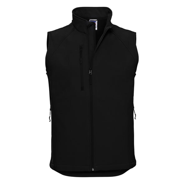 Softshell Gilet Mens Bodywarmers Russell Black XS