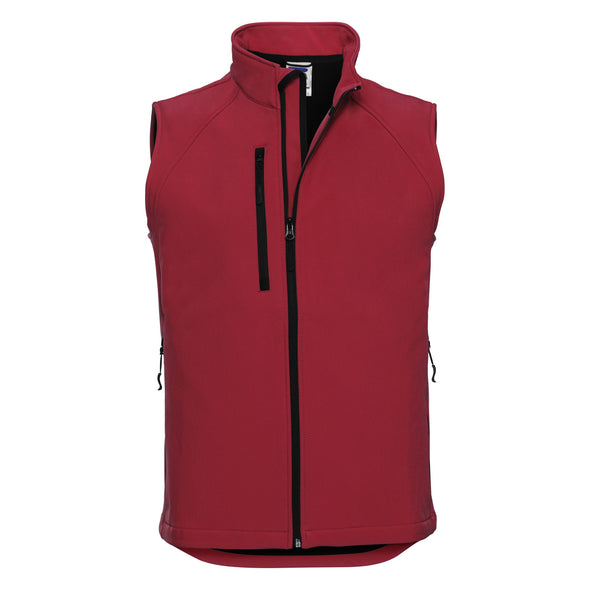 Softshell Gilet Mens Bodywarmers Russell Classic Red XS