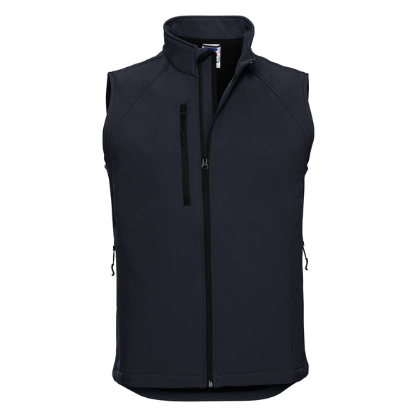 Softshell Gilet Mens Bodywarmers Russell French Navy XS