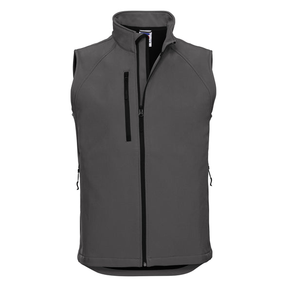 Softshell Gilet Mens Bodywarmers Russell Titanium XS