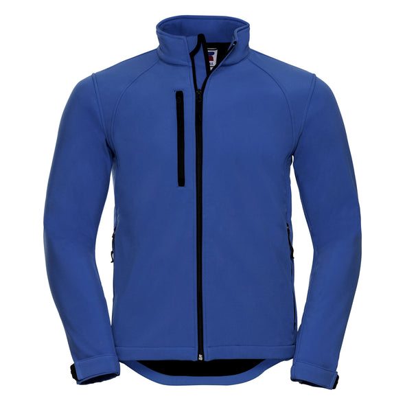 Softshell Jacket Mens Softshell Jackets Russell Azure Blue XS