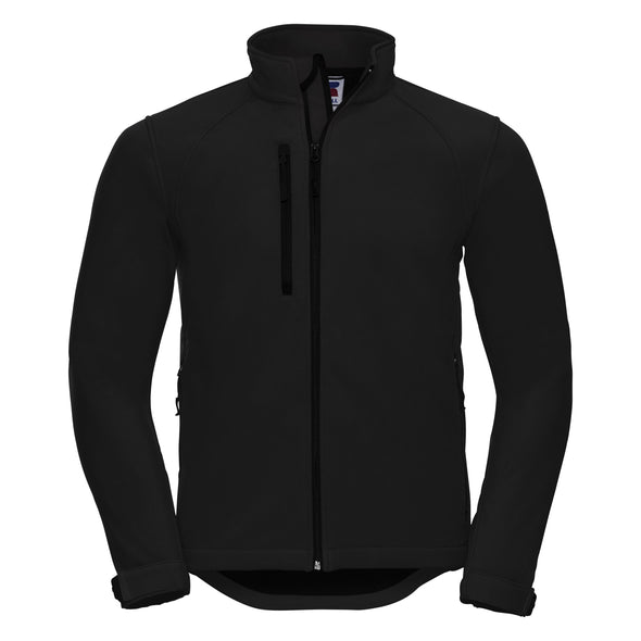 Softshell Jacket Mens Softshell Jackets Russell Black XS