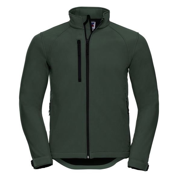 Softshell Jacket Mens Softshell Jackets Russell Bottle Green. XS