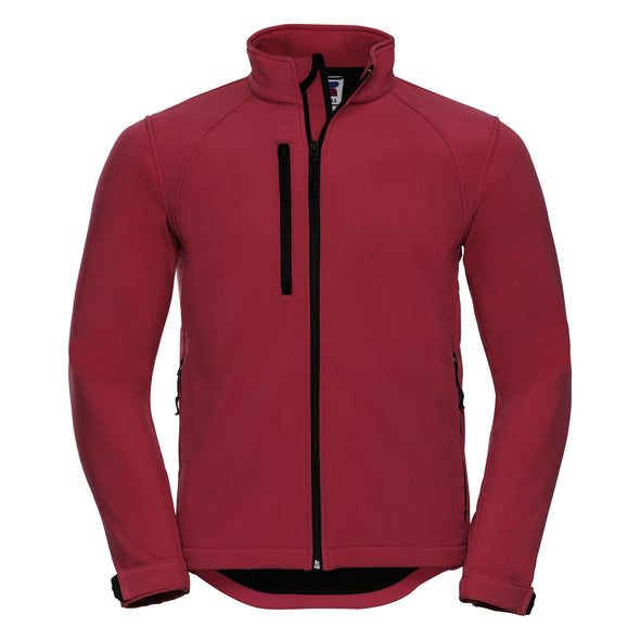 Softshell Jacket Mens Softshell Jackets Russell Classic Red XS