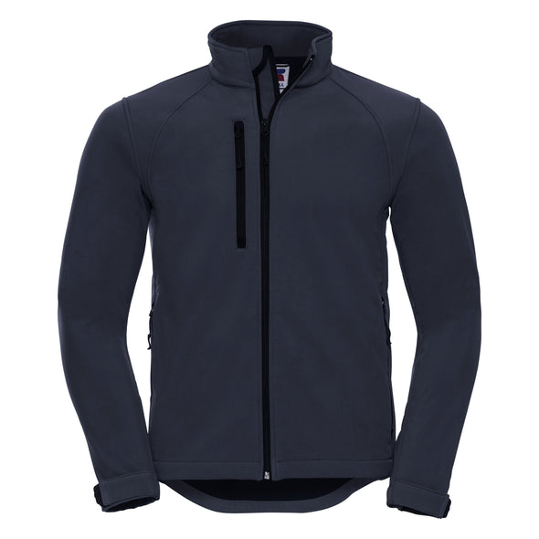 Softshell Jacket Mens Softshell Jackets Russell French Navy XS