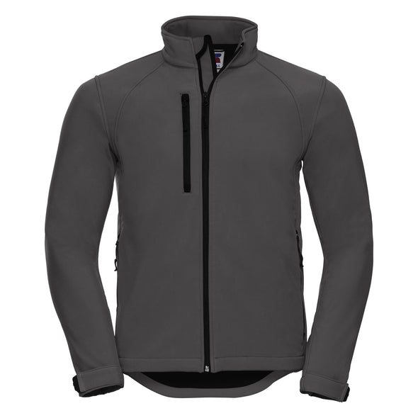 Softshell Jacket Mens Softshell Jackets Russell Titanium XS