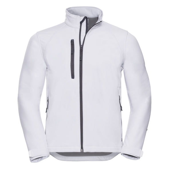 Softshell Jacket Mens Softshell Jackets Russell White XS