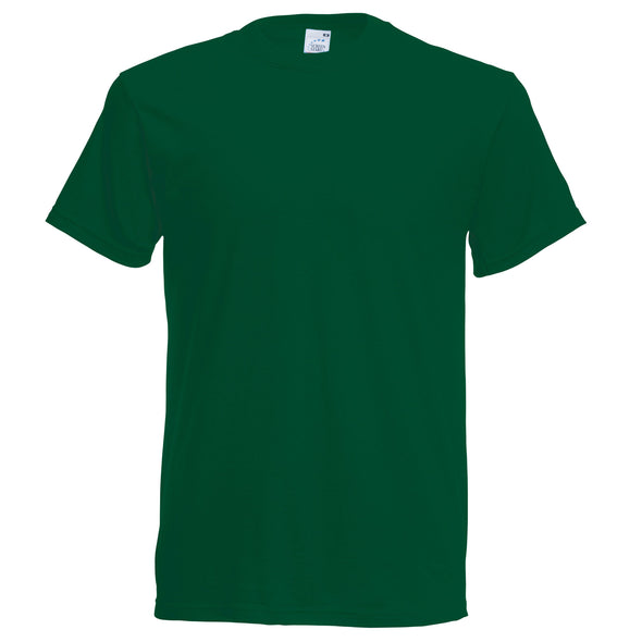 SS048 - Original T-Shirt Mens T-Shirts Fruit of the Loom Bottle Green S