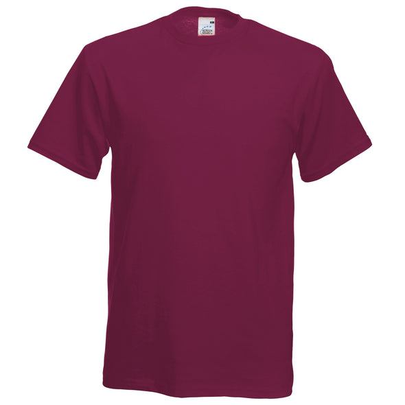 SS048 - Original T-Shirt Mens T-Shirts Fruit of the Loom Burgundy S