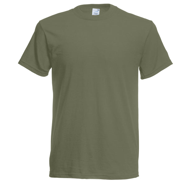 SS048 - Original T-Shirt Mens T-Shirts Fruit of the Loom Olive S