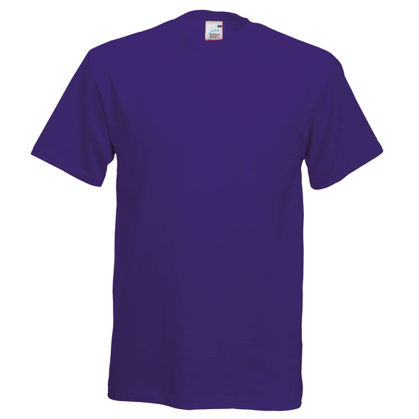 SS048 - Original T-Shirt Mens T-Shirts Fruit of the Loom Purple S