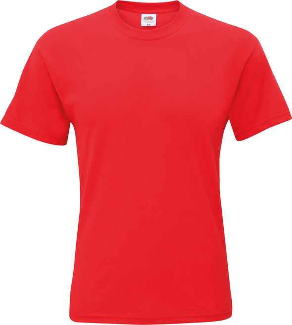 SS048 - Original T-Shirt Mens T-Shirts Fruit of the Loom Red S