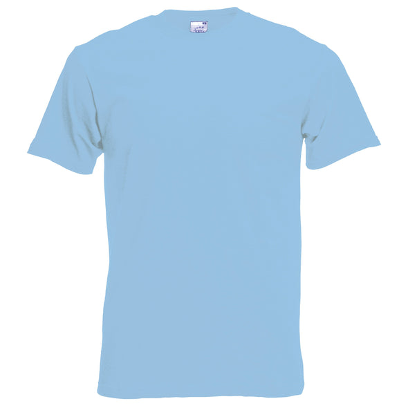 SS048 - Original T-Shirt Mens T-Shirts Fruit of the Loom Sky Blue S