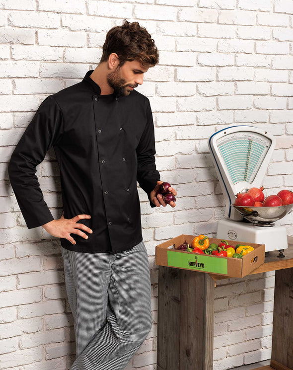 Studded Front L/S Chefs Jacket Chefs Jacket Premier