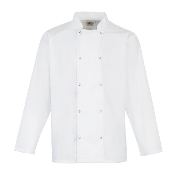 Studded Front L/S Chefs Jacket Chefs Jacket Premier White XS