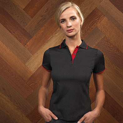 Womens Contrast Coolchecker Polo Womens Polos Premier