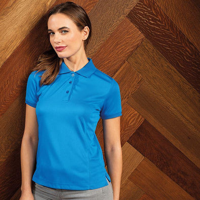 Womens Coolchecker Pique Polo Womens Polos Premier